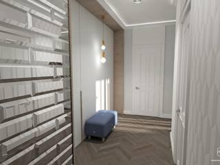 Projekt mieszkania - Gdańsk, osiedle Albatross Towers: styl , w kategorii Korytarz, przedpokój zaprojektowany przez Pracownia Projektowa MOJE