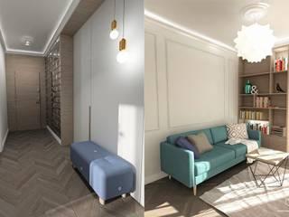 Projekt mieszkania - Gdańsk, osiedle Albatross Towers: styl , w kategorii Salon zaprojektowany przez Pracownia Projektowa MOJE