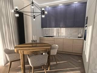 Projekt mieszkania - Gdańsk, osiedle Albatross Towers: styl , w kategorii Kuchnia zaprojektowany przez Pracownia Projektowa MOJE