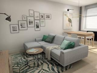 Projekt mieszkania - Gdańsk Południe Nowoczesny salon od Pracownia Projektowa MOJE Nowoczesny