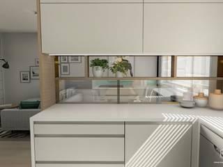 Projekt mieszkania - Gdańsk Południe: styl , w kategorii Kuchnia zaprojektowany przez Pracownia Projektowa MOJE