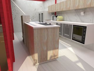Estudio de Diseño Interior KitchenStorage Kayu Wood effect