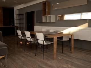 DO DESIGN – URLA BÖLGESİ VİLLA TASARIMI :  tarz Yemek Odası