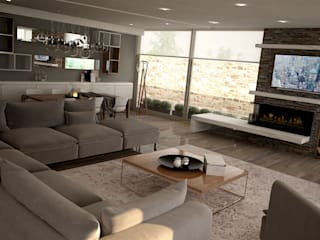 Modern living room by homify Modern