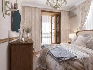Квартира в стиле - Легкий Прованс: Спальни в . Автор – Бюро9 - Екатерина Ялалтынова