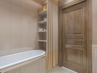 Квартира в стиле - Легкий Прованс 2я часть: Ванные комнаты в . Автор – Бюро9 - Екатерина Ялалтынова