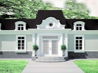 APRIL DESIGN Classic style houses Bricks Grey