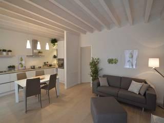 Appartamenti in bioedilizia: Soggiorno in stile  di Marlegno