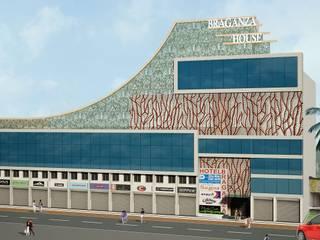 Facade Design for Braganza House, Mapusa, Goa. Modern houses by SILVERFERNS DESIGN INNOVATION Modern