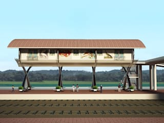 Commuters Court for Karmali Railway Station, Karmali, Goa. Modern houses by SILVERFERNS DESIGN INNOVATION Modern