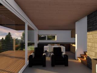 REFUGIO LR Livings de estilo moderno de EjeSuR Arquitectura Moderno