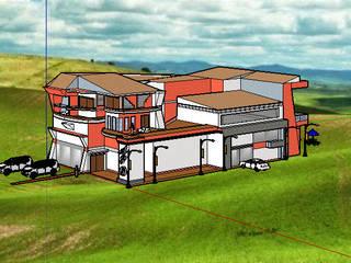 diseño basico de una casa de alto nivel de Dibucad