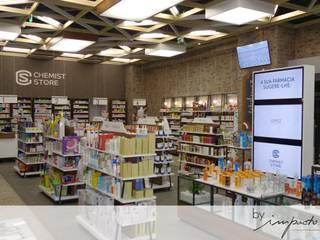 Remodelação de Farmácia Espaços comerciais modernos por Impacto Criativo Moderno