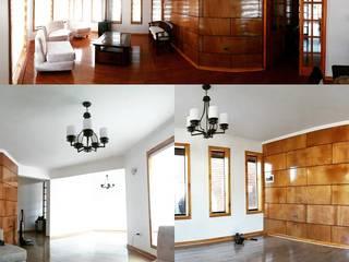 Rehabilitación de vivienda en la localidad de Penco Pasillos, vestíbulos y escaleras de estilo ecléctico de ARQUITECTURA E INGENIERIA PUNTAL LIMITADA Ecléctico