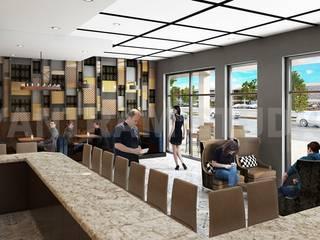 Eine vollständige und umfassende Coffee Shop - Bar mit schönen Innenarchitektur:  Hotels von yantramstudio