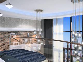113_Однушка в 2 уровня: Спальни в . Автор – Дизайн студия Алексея Каверина