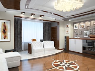 102_Вид из окна - 140 кв м: Гостиная в . Автор – Дизайн студия Алексея Каверина