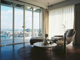 Casa in Keelung 现代客厅設計點子、靈感 & 圖片 根據 鄭士傑室內設計 現代風