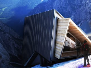 Bivacco Fanton Case in stile minimalista di PLANCIA atelier Minimalista Legno Effetto legno