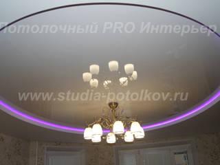 Двухуровневый натяжной потолок с подсветкой Гостиная в классическом стиле от студия Потолочный PRO Интерьер Классический