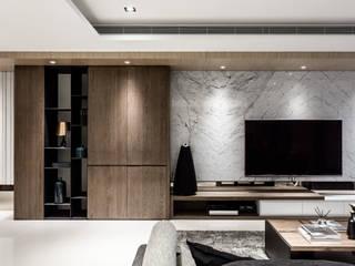 双設計建築室內總研所 ห้องนั่งเล่น