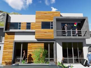 ▪⁞ VIVIENDA MULTIFAMILIAR SIMPLE ⁞▪: Casas de estilo  por ARQUIFUTURA... Arquitectura Integral