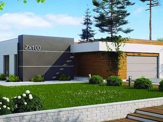 Modelo Aranjuez Casas modernas: Ideas, imágenes y decoración de Casas de Madera Moderno