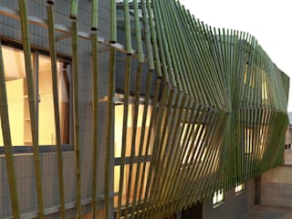 Bamboo Forest House :  Houses by ROEWUarchitecture