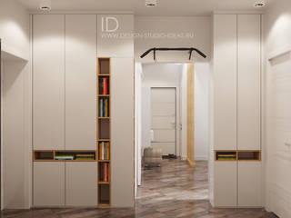 Красота белого в гостиной и кухне: Коридор и прихожая в . Автор – Студия дизайна Interior Design IDEAS