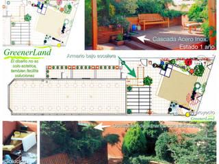 Cubierta Ajardinada / Roof Garden: Terrazas de estilo  de GreenerLand. Arquitectura Paisajista y Tematización