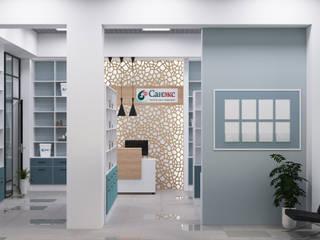 Center of interior design Espacios comerciales de estilo ecléctico