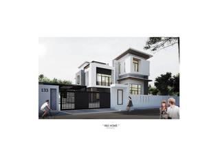 บ้านเดี่ยว 3 ชั้น โดย Adapstudio โมเดิร์น
