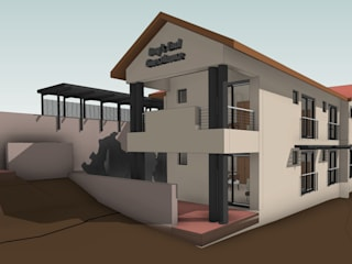 3D View - Southeast:   by Architects Unbound (Pty) Ltd.