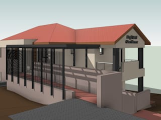3D View - Southwest:   by Architects Unbound (Pty) Ltd.