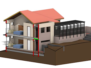 3D View - Sectional Northwest:   by Architects Unbound (Pty) Ltd.