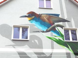 Fassaden Wandmalerei:   von  Wandgestaltung Graffiti Airbrush von Appolloart