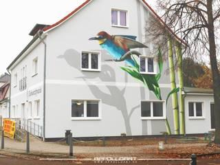 Zahnarzt Praxis Fassadengestaltung mit Logo Darstellung Asiatische Krankenhäuser von Wandgestaltung Graffiti Airbrush von Appolloart Asiatisch
