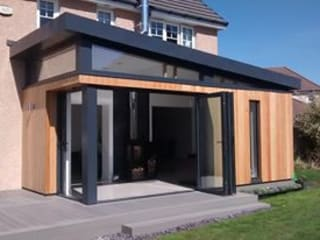 Dab Den house Extension Dab Den Ltd Case moderne Legno
