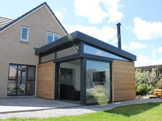 Dab Den House extension - Aberdeenshire:  Living room by Dab Den Ltd