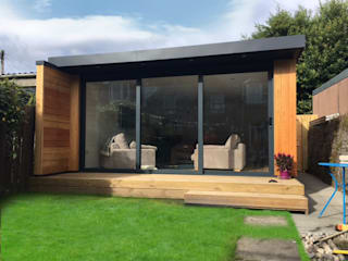 5m x 6m Garden room:  Garden by Dab Den Ltd