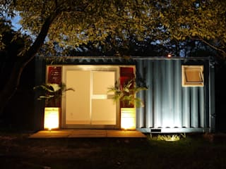 Eclectic style houses by Casa Container Marilia - Barros Assuane Arquitetura Eclectic