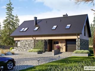 Projekt Nikolas G1 - nowoczesny dom, który zachwyca! Nowoczesne domy od Pracownia Projektowa ARCHIPELAG Nowoczesny