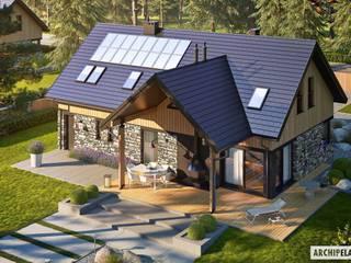 Projekt Nikolas G1 - nowoczesny dom, który zachwyca!: styl , w kategorii Domy zaprojektowany przez Pracownia Projektowa ARCHIPELAG,Nowoczesny