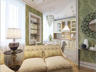 Квартира семейной пары: Гостиная в . Автор – Ассоциация IDA