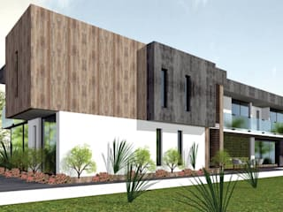Boceto Casa Moderna : Casas de estilo  por BOCETO ARQUITECTOS+ASOCIADOS