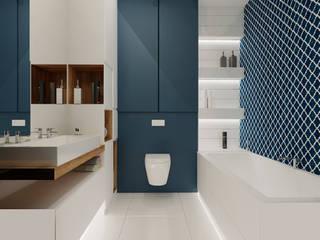 Projekt mieszkania 76m2 w Będzinie - Namiarkowa Nowoczesna łazienka od Ale design Grzegorz Grzywacz Nowoczesny