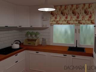 PROJEKTY Skandynawska kuchnia od Design & Home Staging Dagmara Wołoszyn Skandynawski