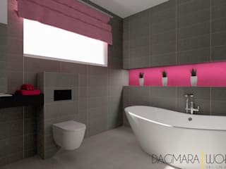 Modern Bathroom by Design & Home Staging Dagmara Wołoszyn Modern