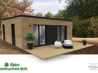 INNO'KUB : construction modulable et adaptable en bois RT 2012 : Maisons de style de style Moderne par Falco Construction Bois