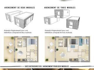 INNO'KUB : construction modulable et adaptable en bois RT 2012: Maisons de style de style Moderne par Falco Construction Bois